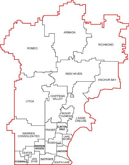 Map Of Macomb County Macomb Directory