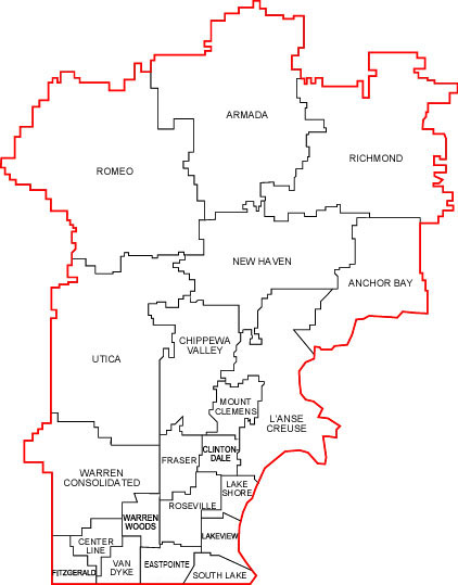 Macomb County District Map