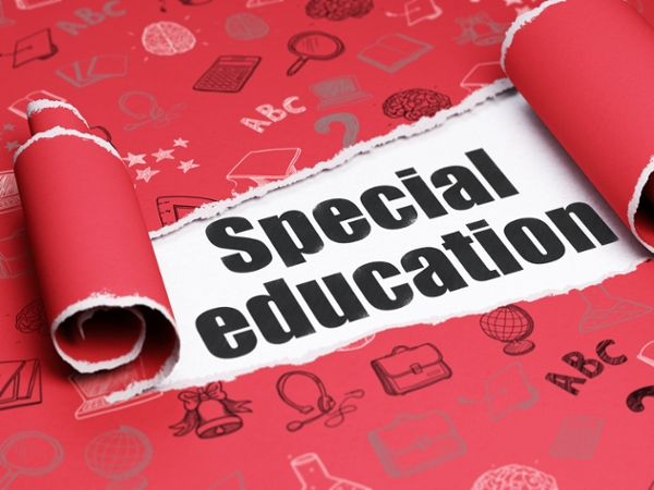 Special Education on red background